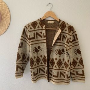 Sweaters - Vintage Knit Boho Cardigan Sweater